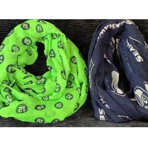 Woman's Bundle Seahawks Infinity Scarves